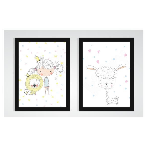 obrazki księżniczka i lama